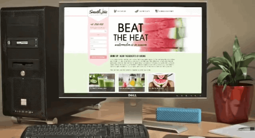 Website Builder - beat the heat page using pesonal computer